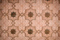 Stock Photo of ornament on the wall molding