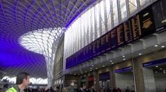 Kings Cross Mainline Railway Station London S12 Stock Footage