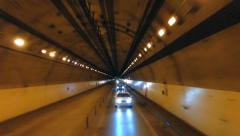 Timelapse tunnel driving Stock Footage