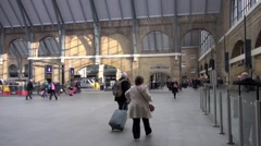 Kings Cross Mainline Railway Station London S7 Stock Footage