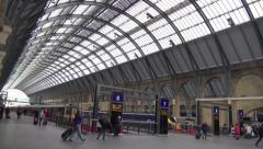 Kings Cross Mainline Railway Station London S8 - stock footage
