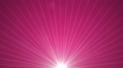 Abstract pink motion background rotating light beams Stock Footage
