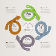 Looping Arrows Infographic Background Stock Illustration