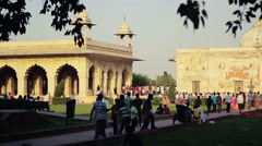 Delhi's Red Fort imperial enclosure Stock Footage