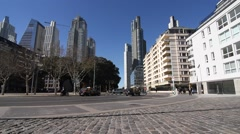 Traffic in Puerto Madero Stock Footage
