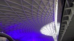 Kings Cross Mainline Railway Station London S9 X Stock Footage
