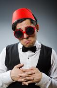 Stock Photo of Man wearing traditional turkish hat fez