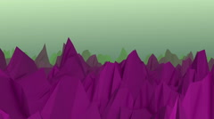 Abstract landscape surface in purple and cyan Stock Footage