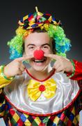 Funny clown in humor concept - stock photo
