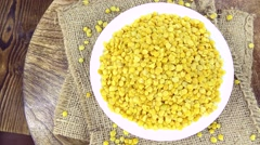 Stock Video Footage of Yellow Lentils Footage (loopable)