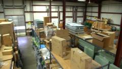 Warehouse High Angle Pan Stock Footage
