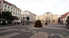 View at the Slovak National Theatre in Bratislava - stock footage