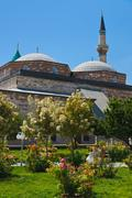 Mevlana Museum and Mausoleum at Konya Turkey Stock Photos