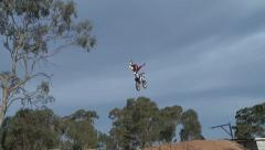 FMX COMPOUND_SMOOTH 1 HANDED SEAT GRAB Stock Footage