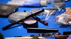 Makeup actors backstage of a theater. Stock Footage