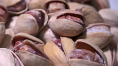 4K Pistachios, nuts close up rotating, UHD stock video - stock footage