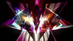 Crystal Kaleidoscopic Fractals Stock Footage