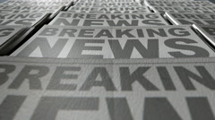 Newspaper press line animation view 3 Stock Footage