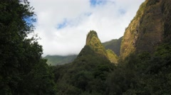 Iao needle maui time lapse Arkistovideo