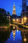 "One of the street of Amersfoort city with a view to the church "" Stock Photos"