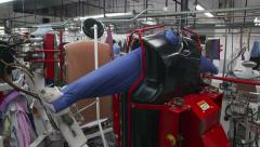 Dry Cleaner Machine Spinning and Pressing - stock footage