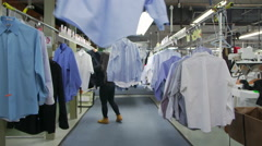 Dry Cleaner Interior Stock Footage