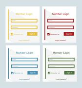 member login - stock illustration
