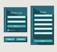 forms login - stock illustration