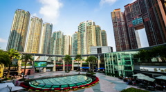 The buildings in International Commerce Center in Hong Kong,China - stock footage