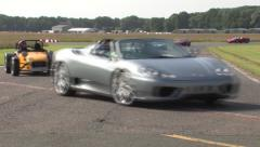 Supercar track parade 3 Stock Footage