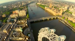 Stock Video Footage of London aerial