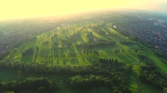 Stock aerial video of  golf course Stock Footage