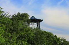 Chinese Arbor in Pyatigorsk, The Mashuk mountain Stock Photos