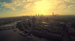 London aerial - stock footage