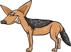Stock Illustration of jackal animal cartoon illustration