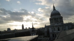 London St. Paul's Cathedral Wide Shot | Magic Hour Stock Footage