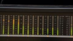 Digital Audio Meter Stock Footage