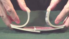 Slow Motion Card Shuffle Stock Footage
