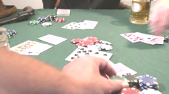 High Speed 7 card Stud Betting - stock footage
