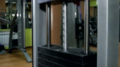Working gym apparatus in the gymnasium Stock Footage