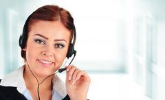 Call center operator. Customer support. Helpdesk - stock photo