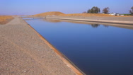 Stock Video Footage of The California aqueduct brings water to drought plagued California.