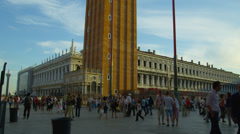 Stock Video Footage of St Mark's Campanile in Piazza San Marco