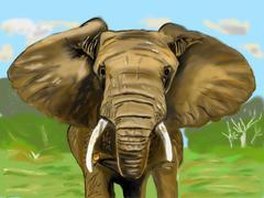 Elephant cg Stock Illustration
