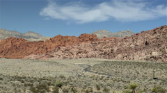 Red rock canyon desert in Nevada, USA. 4K UHD Stock Footage