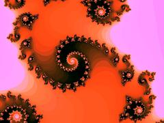 Decorative fractal spiral in a bright colors Stock Illustration