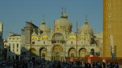 View of Saint Mark's Basilica Stock Footage