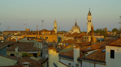 Stock Video Footage of View of rooftops near Piazza San Marco
