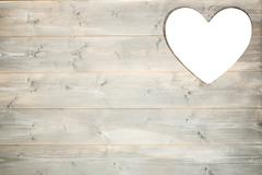 Stock Photo of Heart cut out in wood