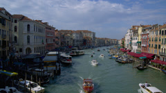 Water taxis in Grand Canal Stock Footage